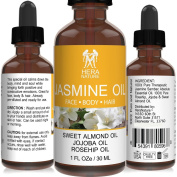 Jasmine Absolute Essential Oil - 100% Pure - in Sweet Almond, Jojoba & Rosehip Oil - Therapeutic Grade - 30ml
