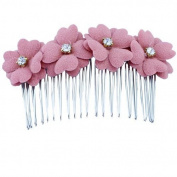 EYX Formula Fashion Woman Korean Style Clover four flower Tiara Hairpins hair Comb clips ,Small fresh Colourful hair styling tool hair comb clips for women ladies girls