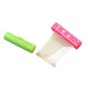 Mily Makeup Blotting Papers Oil Absorbing Paper Sheet Roll for Face 7cm X 700cm Pink + Green