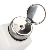 Beauty7 200ML Empty Alcohol Liquid Press Pump Dispenser Bottle for Nail Art Acrylic Polish Remover Cleaner Tool