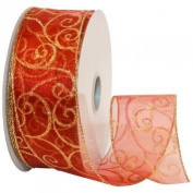 Premium Sheer Wired Ribbon 2 1/2 x10 Yards Colours Vary