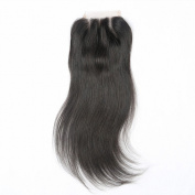 Beata Hair 3 Way Part Brazilian Lace Closure Straight Bleached Knots with Baby Hair 25cm
