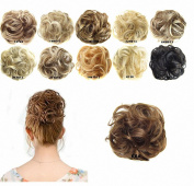 FESHFEN Scrunchy Scrunchie Bun Updo Hairpiece Hair Ribbon Ponytail Extensions Drawstring Hair Extension Dark Brown Scrunchie Hairpiece