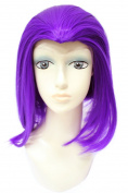 Anogol Women's Teen Titans Raven Wig for Cosplay Costume Party Fancy Dress Hair Wigs DM-933