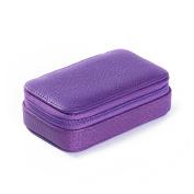 Small Zip Case - Full Grain Leather - Grape