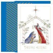 Masterpiece Studios Contemporary Manger, 18 Cards/18 Foil Lined Envelopes