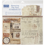 Karen Foster Scrapbook Page Kit 30cm x 30cm -Honouring The Past