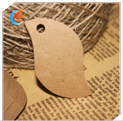 100pcs Blank Brown Kraft Paper Little Bird Marked Blank Card Hand Draw Paper Tags Labelled DIY Bookmark+20M String