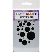 That's Crafty Dinky Stencil 7.6cm x 12cm -Bubbles Background