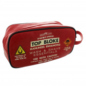 Ministry of Chaps Ministry Of Chaps Men's Red Fun Wash Bag With Department Approved 'Top Bloke'