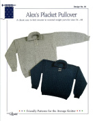 Design by Louise Knitting Pattern #30 Alex's Placket Pullover for Men & Women