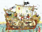 Bothy Threads Cut Thru' Series - Pirate Ship Counted Cross Stitch Kit