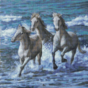 Wild and Free Horses Cross Stitch Pattern (Not a Kit) Stitching Tips/Fabric Planning Guide included.