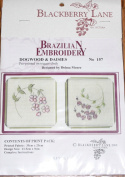 Dogwood & Daisies - Blackberry Lane Brazilian Embroidery kit with EdMar threads #157