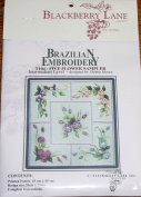 Five Flower Sampler - Blackberry Lane Brazilian Embroidery kit with EdMar threads #T104