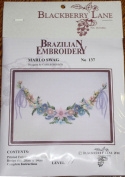 Marlo Swag - Blackberry Lane Brazilian Embroidery kit with EdMar threads #137