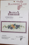 Summer Spray - Blackberry Lane Brazilian Embroidery kit with EdMar threads #144