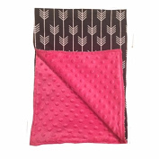BayB Brand Blanket - Grey Arrow with Hot Pink