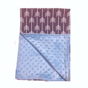 BayB Brand Blanket - Grey Arrow with Baby Blue