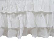 Zack & Tara Tiered Crib Skirt - White