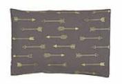 summer & sage Mustard Seed Infant Pillow, medium, arrows, charcoal