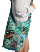 Patchwork Handmade Blue Cotton Hobo Crossbody Shoulder Bag Hipster Boho Women Sling
