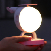 Katoot@ Touch Sensing Helicopter Night Light LED Colourful Timer Lamp Portable USB Rechargeable Soft Light Atmosphere Beside Lights