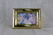 Our Lady of Guadalupe Religious Gold Faux Frame Brass 18cm x 13cm x 0.15cm K-07