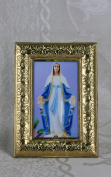 Our Lady of Guadalupe Religious Gold Faux Frame Brass 18cm x 13cm x 0.15cm K-04