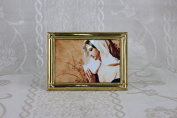 Our Lady of Guadalupe Religious Gold Faux Frame Brass 18cm x 13cm x 0.15cm K-05