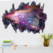 3D Space Plants Universe Galaxy World Decor Removable Wall Stickers