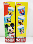 Mickey Mouse Clubhouse 90ml Paper Bath Cups - 2 Boxes of 36 Cups Each - Disney