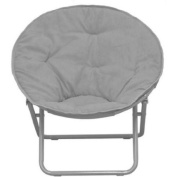American Kids Bedding WK656330 Solid Faux-Fur Saucer Chair, Polyester Fabric Content, Grey Colour/100 percent polyester upholstery Dimensions