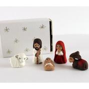 Tiny Hand Crafted Matchbox Nativity Figurine Set