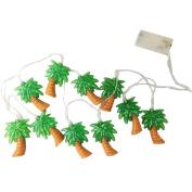 LEDHOLYT 1.65M 10 LEDs Battery Powered Coconut Tree Shape String Light for Outdoor Indoor Christmas Festival Decoration