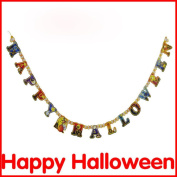 "SUPPION Halloween Paper Garlands, ""Happy Halloween Party"" Decoration For Halloween Props"