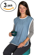 Terry Cloth Adult Bib with hook and loop Closure - 3 Pack
