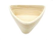 Agile-Shop 23cm European Style Triangle Shaped Banneton Brotform Bread Dough Proofing Rising Rattan Basket with Linen Liner Cloth
