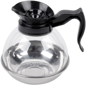 1890ml Polycarbonate Coffee Decanter with Stainless Steel Bottom and Black Handle