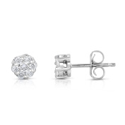 Noray Designs 14K White Gold Diamond (1/4 Ct, G-H Colour, SI2-I1 Clarity) Cluster Stud Earrings