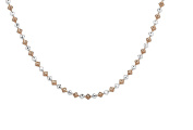 Sterling Silver Rose Gold Plated Two-Tone Dreidel Necklace