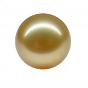 Top lustre round 12-13mm south sea cultured golden loose pearl .necklace pendant