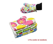 1 Pcs Oven Mitts High-Temperature Microwave Oven Baking Gloves Anti-heat Slip-Resistant Oven Mitts