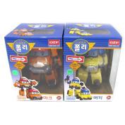 Robocar Poli MARK BUCKY Transformer Robot Car Toy Academy Action Figure 2 Pcs Set