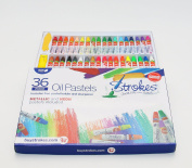 Premium Oil Pastels 36 Assorted Colours Non Toxic, Smooth Blending Texture, Ideal For All Artist Levels Metallic and Neon Colours