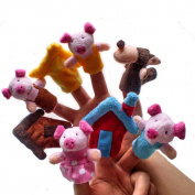 Baby Kids Education Toys, FTXJ 8pcs Animal Finger Puppet Plush Child Dolls Toys