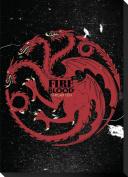 Game Of Thrones Targaryen Sigil Canvas Banner Stretched Canvas Print 33cm x 46cm
