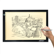 AGPtek 43cm (A4 Size) Tracing Light Box LED Artcraft Tracing Light Pad Light Box Stepless brightness control with memory function For Artists, Drawing, Sketching, Animation - Natural White