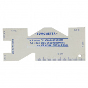 Metal Somometer Sewing Measuring Gauge Quilting Rulers for Sewing Crafts