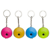 P2P@zita 4 Pcs Body Measure Measuring 1500mm 60 Inch Tape 4 Candy Colours Soft Sewing Tailor Dieting Keychain Accurately Measures Retractable Stay Healthy Pocket Sports Ruler